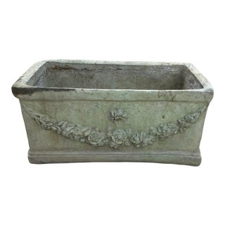 Late 20th Century Vintage Neoclassical Design Concrete Planter For Sale