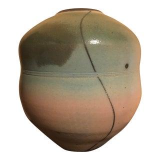Large Raku Pottery Vase