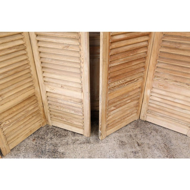 French Set of Six Vintage French Shutters For Sale - Image 3 of 13
