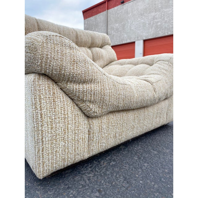 Vintage Deep Biscuit Tommy Tufted Lounge Chair and Ottoman For Sale - Image 10 of 13