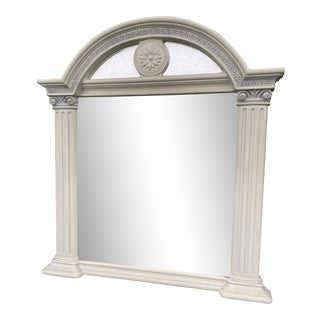 1980s Faux Stone Resin Pier Mirror For Sale