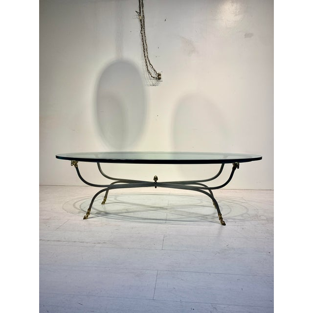 1960s Italian Oval Ram's Head & Hoof Coffee Table For Sale - Image 10 of 10