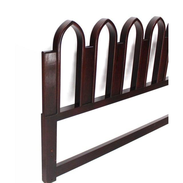 Harvey Probber Harvey Probber Mahogany Cultured King-Size Headboard For Sale - Image 4 of 9