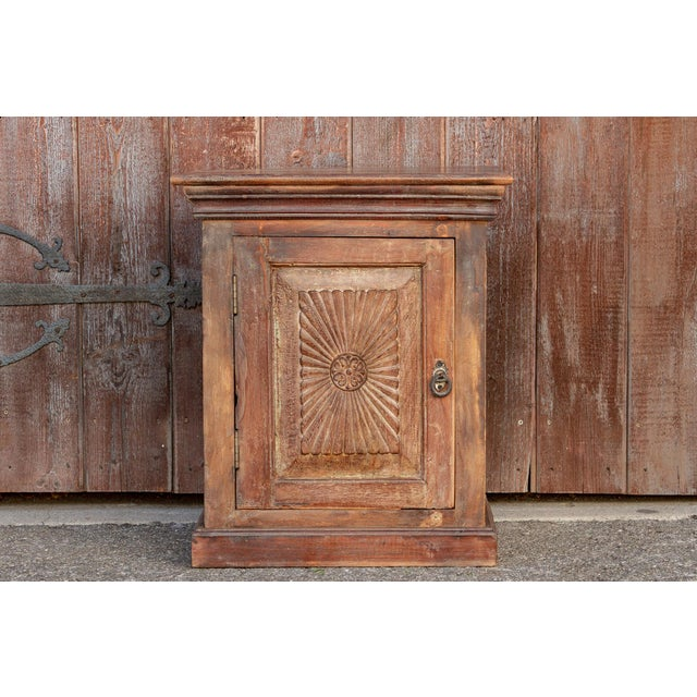 Indo-Portuguese Sunburst Nightstand For Sale - Image 10 of 12