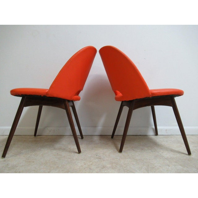 Mid-Century Modern Adrian Pearsall Craft Associates Scoop Side Chairs - A Pair For Sale - Image 3 of 9