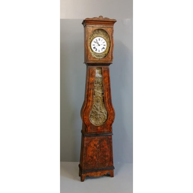 Antique 19th Century French Grandfather Clock (Morbier) For Sale - Image 13 of 13