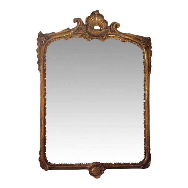 19th C. French Carved Gilt Mirror - Image 1 of 5