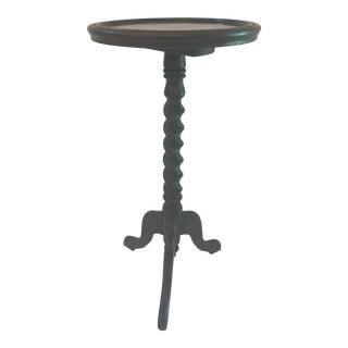 Vintage Barley Twist Pedestal Wine Table For Sale