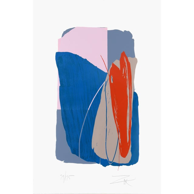 Larry Zox, Untitled 4, Serigraph - Image 1 of 2