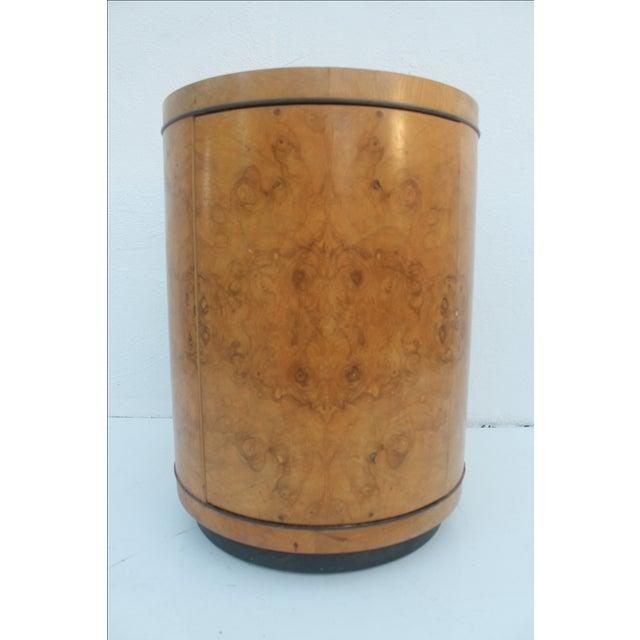 1970s Milo Baughman Burl Wood Side Table - Image 2 of 8