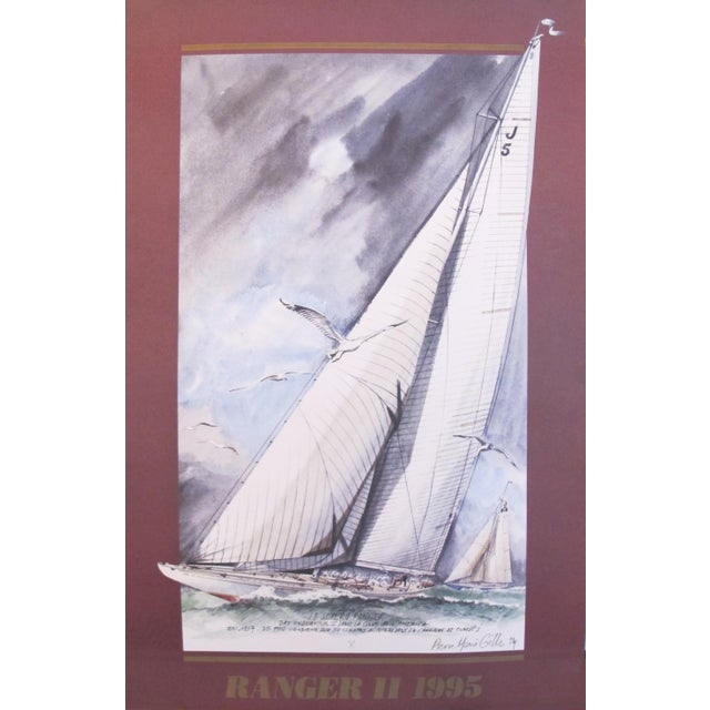 1995 America's Cup Sailing Poster, Ranger II Yacht - Image 5 of 5