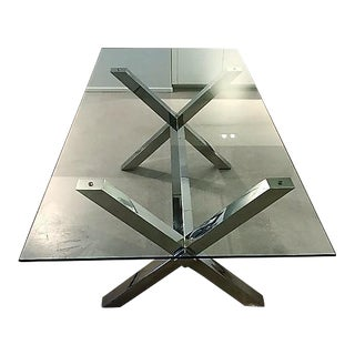 Glass & Metal Dining Table or Desk