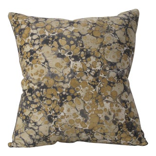 Marbleized Velvet Pillow