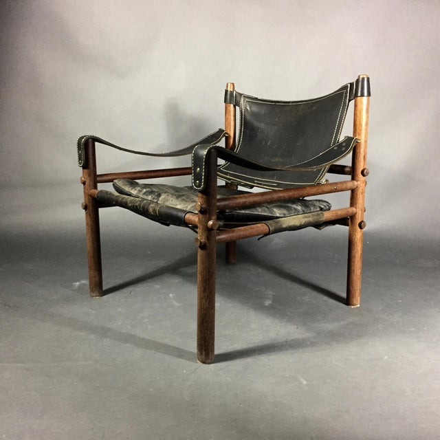"Arne Norell ""Scirocco"" Safari Chair, Leather & Rosewood, Sweden For Sale - Image 12 of 12"