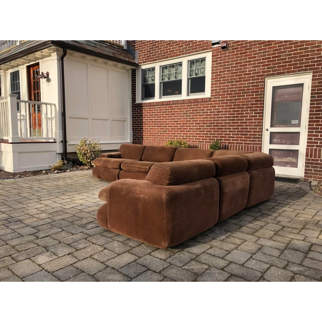 Textile Vintage 1970s Vladimir Kagan Modular Sectional Sofa by Preview For Sale - Image 7 of 13