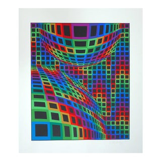 Victor Vasarely Etching on Paper For Sale