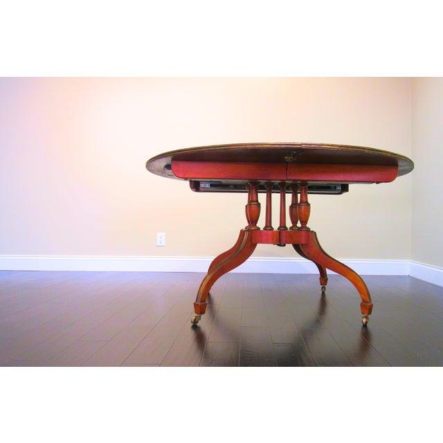 Baker 2 Leaf Dining Table - Image 3 of 6