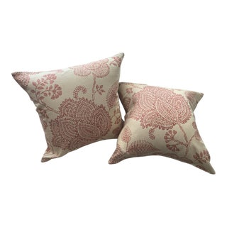 Floral Pillows - a Pair For Sale