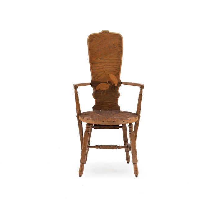 Wood French Provincial Crane Arm Chair For Sale - Image 7 of 7
