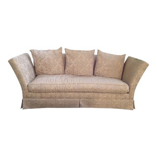 Damask Upholstered Knowle Skirted Sofa