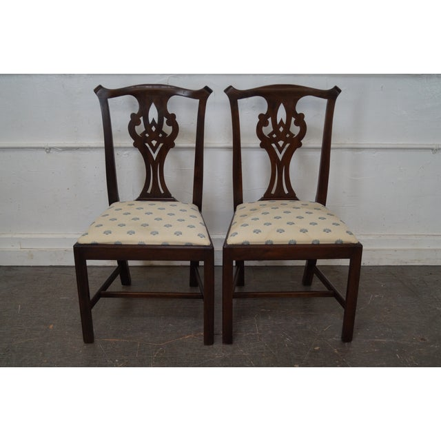 Henkel Harris Solid Mahogany Chippendale Style Dining Chairs - Set of 6 - Image 8 of 10