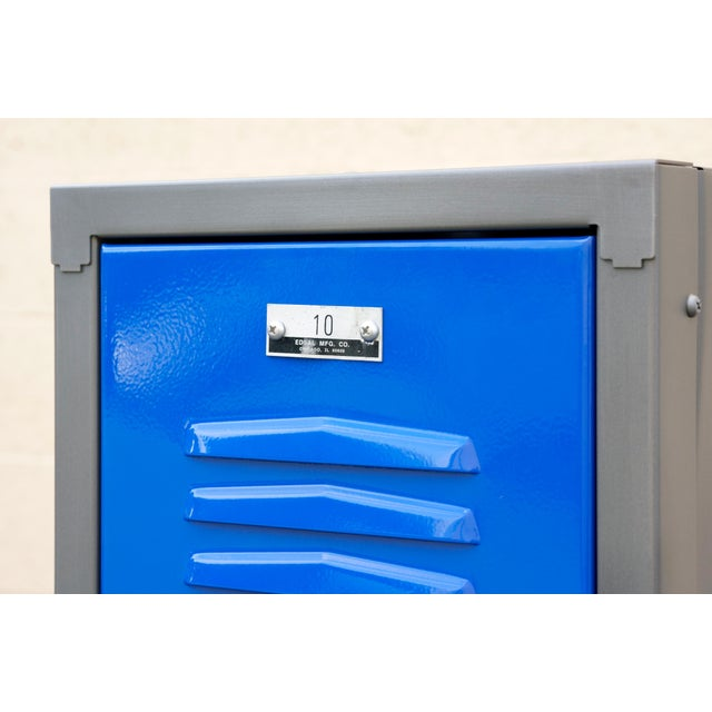 1970s 1970s Vertical Locker Cabinet,Refinished in Royal Blue For Sale - Image 5 of 7
