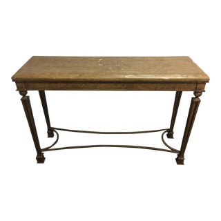 Cracked Linen Console Table