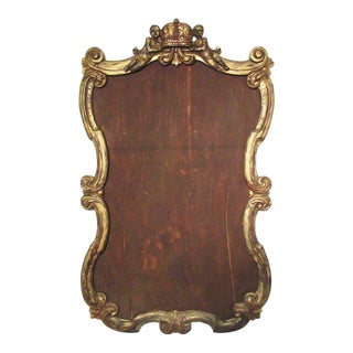 Mid 19th Century Antique Florentine Rococo Baroque Style Putti Crown Frame For Sale