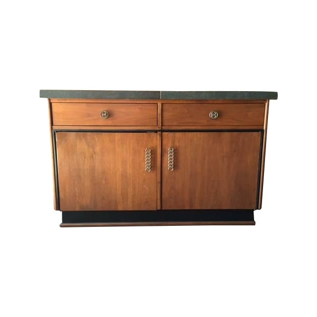 Mid Century Transforming Cocktail Bar Cabinet - Image 1 of 6
