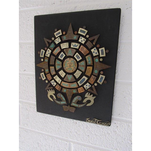 Mid-Century Modern Mid Century Mexican Modern Wall Plaque For Sale - Image 3 of 9