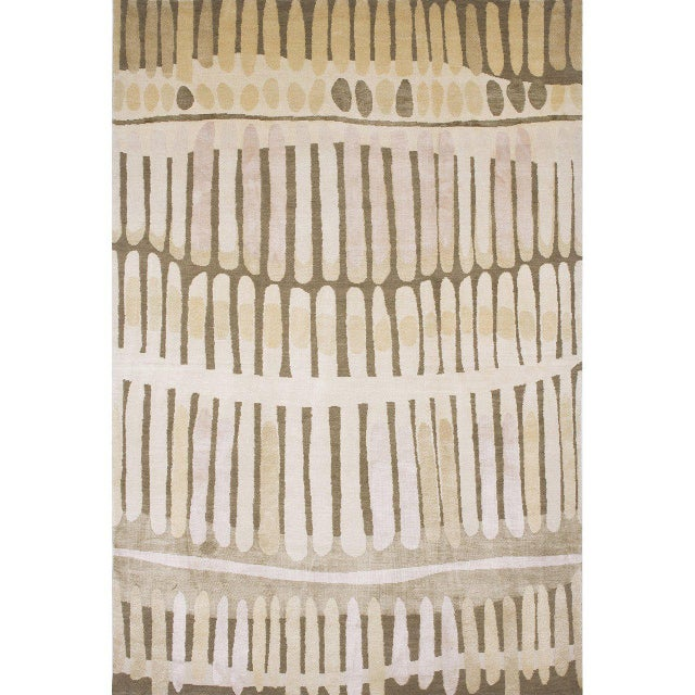 """The """"Fire Island"""" rug is inspired by a shell found during a walk with her daughter on Fire Island was the inspiration for..."""