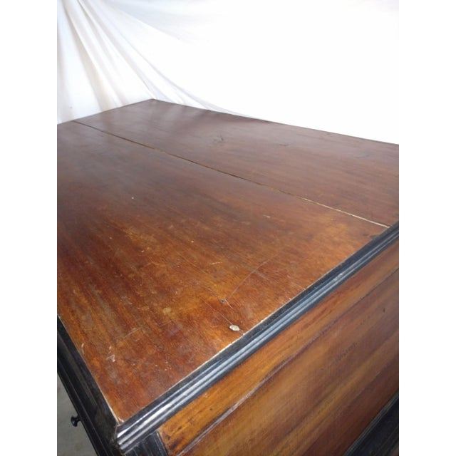 Brown Pettagama 1920 Mahogany and Ebony Dowry Chest For Sale - Image 8 of 12