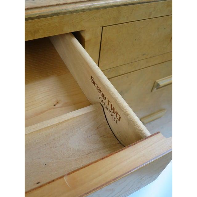 Henredon Scene Two Executive Desk in Burl Wood For Sale - Image 10 of 12