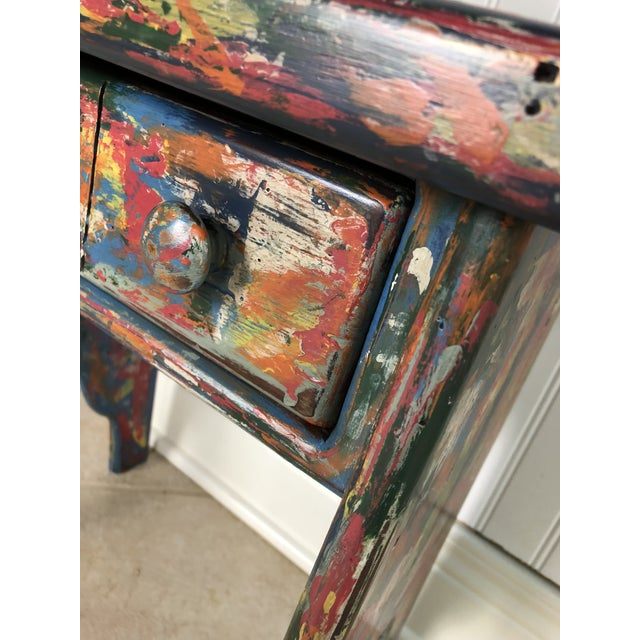 Boho Chic Industrial Bohemian Accent Table For Sale - Image 3 of 9