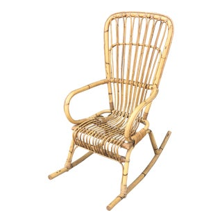 1970s Franco Albini Rocking Chair For Sale