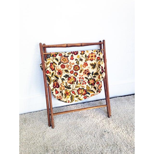 Vintage Folding Sewing Basket / Hamper - Image 4 of 7
