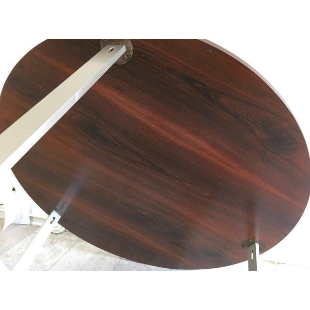 Brown 1960s Vintage Jørgen Kastholm & Preben Fabricius Rosewood and Aluminum Center Table For Sale - Image 8 of 12