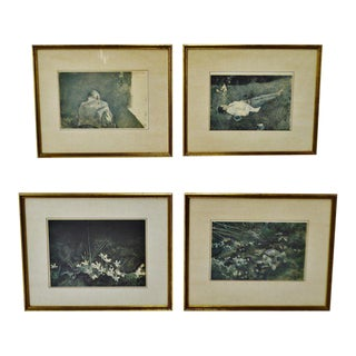 Vintage Framed Andrew Wyeth Prints Collection of Mrs. Andrew Wyeth - Set of 4 For Sale