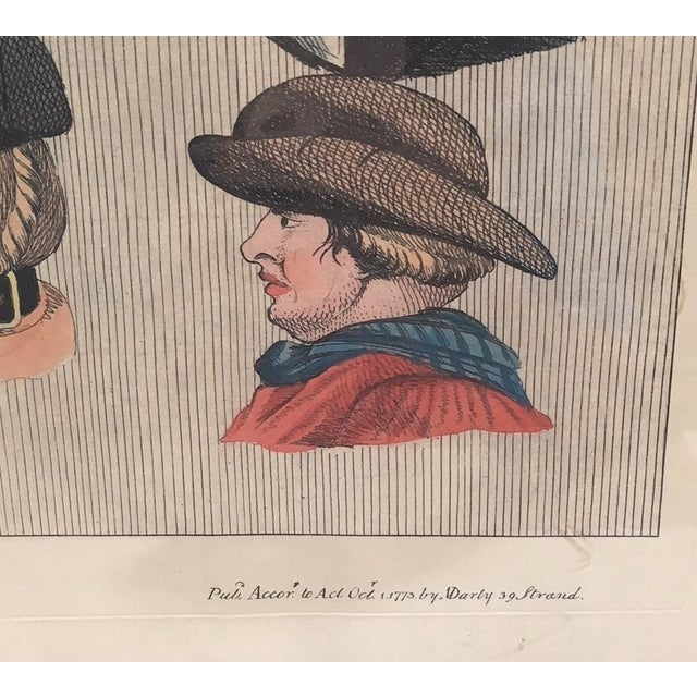 Hats, glorious HATS! Up for sale is this framed print, origjnally published in 1773 by husband/wife printmakers (and...
