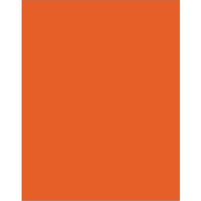 Metal Orange High Gloss Drum Lamp Shade With Gold Lining For Sale - Image 7 of 8