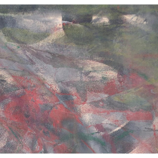 "Abstract ""Red Wine at Monet's Lilly Pond"" Painting by Tony Curry & Matthew Lee For Sale - Image 3 of 3"