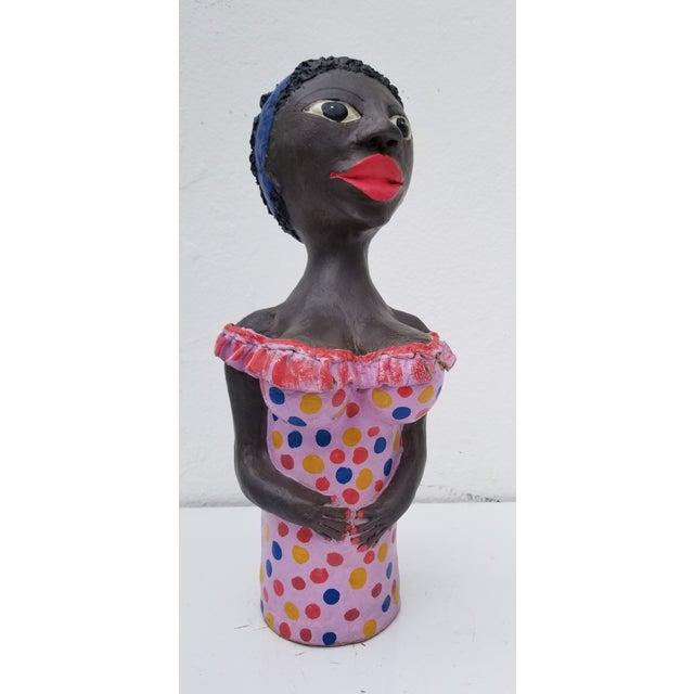 1980s Brazilian Female Sculpture For Sale - Image 13 of 13