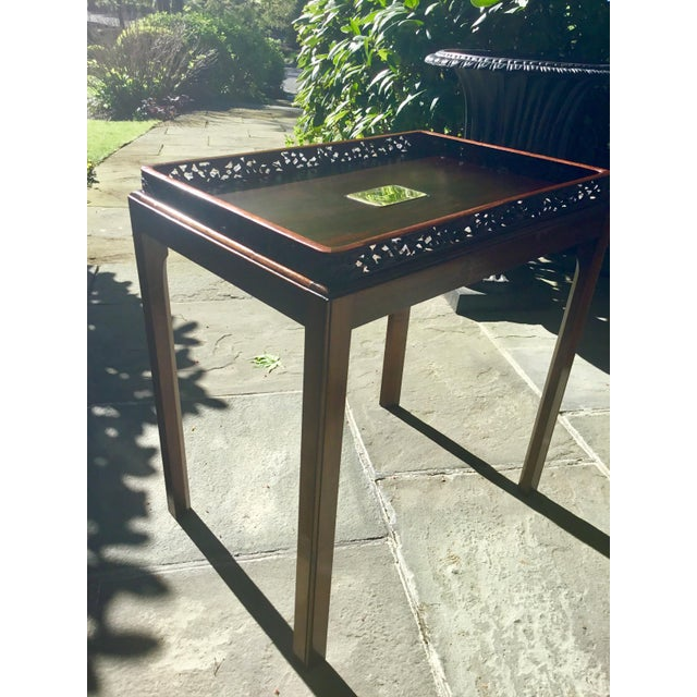 Chinoiserie Chippendale Rosewood Tray Table For Sale - Image 9 of 12