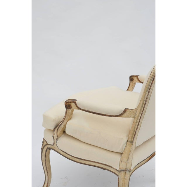 White Exceptional Late 19th Century Louis XV Style Armchair For Sale - Image 8 of 10