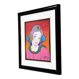 1990s Contemporary Framed Print Snow White Signed Dated Numbered by Peter Max For Sale