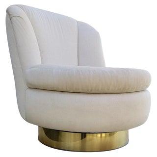 Milo Baughman Swivel Lounge Chair For Sale
