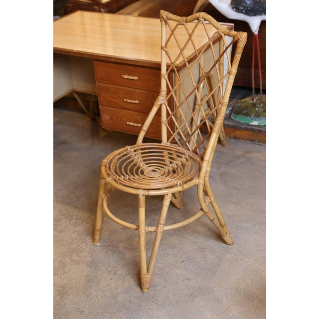 Bamboo Desk and Chair For Sale - Image 9 of 11