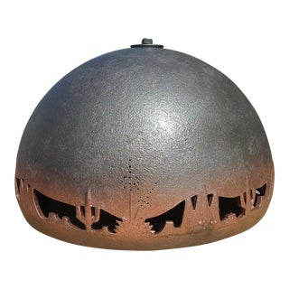 Vintage Southwestern Theme Ceramic Swag Lamp For Sale