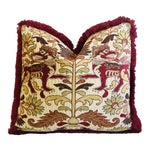 """Clarence House Griffin Fabric Feather/Down Pillow 24"""" X 23"""""""