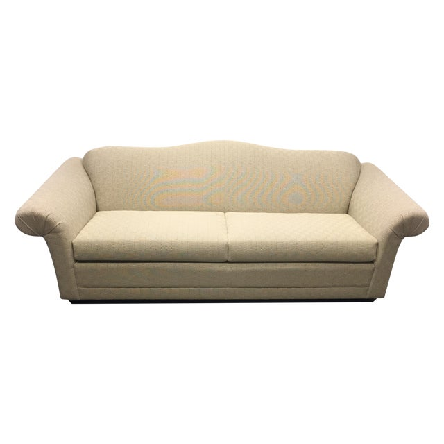 Contemporary Beige Upholstered Sofa - Image 1 of 7